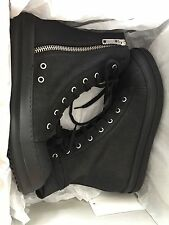 Rick owen drkshdw coated canvas black high top sneaker vegan Wax Geobasket