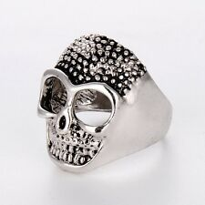 New Arrival Stainless Steel Mens/Womens Silver skull Rings Fashion Jewelry Hot