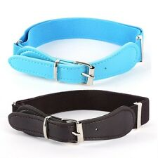Candy Color Kids Toddler Adjustable Belt PU Leather High Elastic Waistband Strap