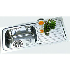 NEW Orsini Single Square Bowl 78cm Inset Sink with Drainer NH