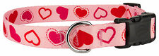 10 - Country Brook Design® Deluxe Dog Collars - Hearts & Valentine's Collection