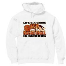Pullover Hooded  Sports Sweatshirt Life's A Game Basketball Is Serious
