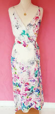 AMANDA UPRICHARD ROSETTA WATERFALL FLORAL DRESS MAXI WRAP SILK RUFFLE