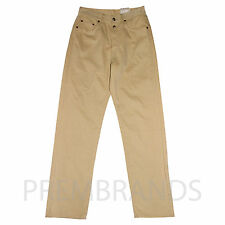 NEW MEN'S GENUINE REPLAY BEIGE JEANS STRAIGHT LEG TROUSERS W30 32 L32 RRP £85