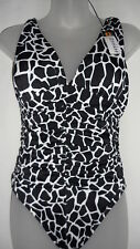 NWT Miraclesuit Womens Sonatina Rock The Croc 1 PC One Piece Swimsuit Black