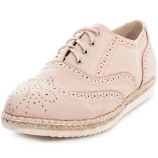 Kidderminster Low Wedge Womens Brogues Light Pink New Shoes