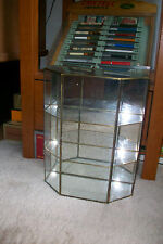 Vintage Large Brass and Glass Curio Display Case Cabinet....Wall
