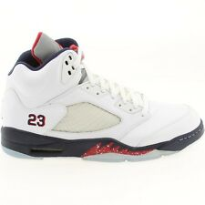 136027-103 Air Jordan 5 V Retro - Olympic (white / varsity red / midnight navy)