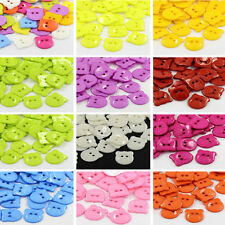 100pcs Acrylic Sewing Buttons Plastic Animal DIY Buttons 2-Hole Dyed Bear Head
