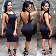 Women Sexy Sleeveless Backless Cocktail Clubwear Evening Party Dress 5 Colors