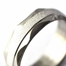 chic silver stainless steel ring mens/womens scrub ring Size 7-11 free shipping
