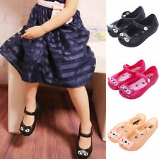 Summer Kids Toddler Girls Cartoon Cat Jelly Shoes Princess Ankle Strap Sandals