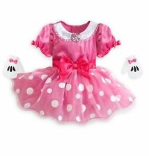 Disney Store Minnie Mouse Baby Costume Dress Gloves Halloween 3 6 12 18 24 Month