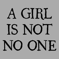 A GIRL IS NOT NO ONE Shirt, American Apparel Unisex Funny Thrones Parody Game