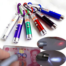 Portable 1PCS Red Laser Pointer Pen LED Flashlight With Money Detector Function