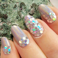 Nail Art Holo Shiny Glitter Powder Hexagon Round Sheet Acrylic UV Decoration