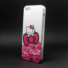 New Cute Hello Kitty Pattern Hard Back Case Cover For Apple iPhone 4 4s 5 5g 5S