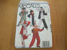Sewing Pattern. Historic Clowns Costumes For Adults, Girls and Boys.McCalls 9212
