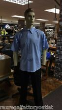 New Pack x 2 Mens Light Blue Short Sleeve Shirts, Formal Wear Business Wear  393