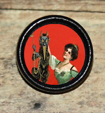 VICTORIAN BEAUTY finds LITTLE DEVIL Altered Art Tie Tack or Ring or Brooch pin