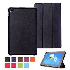 PU Leather Stand Folio Case Cover Protector Pouch For 2015 KINDLE FIRE HD8, 8''