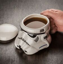 Star Wars Darth Vader Stormtrooper Helmet Ceramic Mug Coffee Mug W/Lid Tea Cup