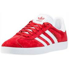 adidas Gazelle Mens Trainers Red White New Shoes