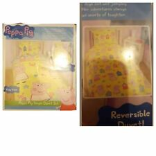 KIDS PEPPA PIG DUVET COVER SET SIZE-SINGLE REVERSIBLE