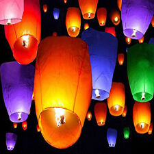 Chinese Sky Wishing Lanterns multi-color  Fly Candle Lamp for Wedding Party ect
