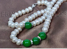 free ship a sets 7-8mm 8-9mm white pearl + agate necklace bracelets s498