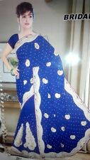 Indian Pakistani Bollywood Designer Varied Color Pearl Embroidery Blouse  Saree