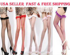 Sexy Cute Women Lace Top Fish Net Stay Up Thigh-Highs Stockings Pantyhose Tights