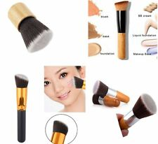 Cosmetic Angled Flat Top Brush Face Makeup Foundation Blusher Powder Tool IB