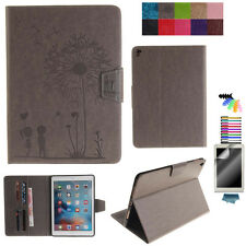PU Leather Case for Samsung iPad Tablet Dandelion Print Protective Stand Cover