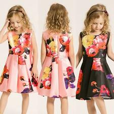 Kids Baby Girls Children Princess Dress Floral Pageant Wedding Party Tutu Dresse