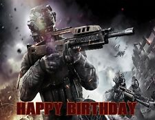 Call Of Duty Personalized Edible Image Premium Cake Topper Frosting Sheet 5 Size