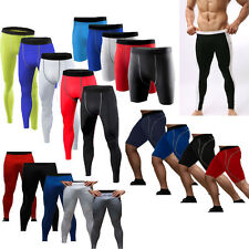 New Mens Compression Tights Base Layer Gym Shorts Workout Pants Trousers Bottoms