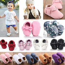 Baby Toddler Boy Girls Tassel Soft Sole Faux Suede/Leather Shoes Infant Moccasin