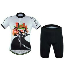 AOGDA Men's Berathable Pro Team Cycling Jerseys Padded Bib Shorts Sets S-XXXL