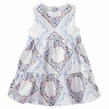 OshKosh Baby Girls' 2-PIECE Diamond Floral Print Dress MSRP$34.00 Size 0/3M-24M,