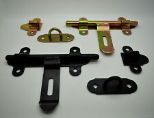Steel Garage Door Gate Security Barrel Bolt Latch Padlock Hasp 150mm - 350mm