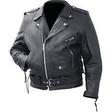 Mans Genuine Cowhide Leather Classic Motorcycle Jacket by Rocky Mountain Hides™