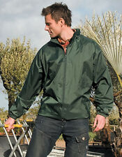Result Men'S Rain Jacket Waterproof sealed Stitched Hood i Collar S XL