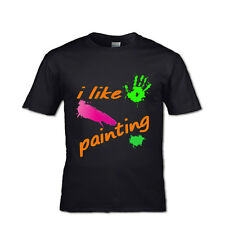 I LIKE PAINTING T-SHIRT CHILDS KIDS FEELING HAPPY CHILDS PLAY SPLASH TOTS TODDLE