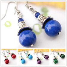 Special Offer Tibetan Silver Gemstone Turquoise Coral Handmade Earrings EH537