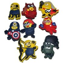 Despicable Me Minion Avenger Shoe Charms or Zipper Pulls #11 (Set of 8)