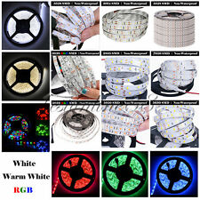 5M SMD 3528 2835 3014 5050 5630 7020 300LEDs RGB White LED Strip Light DC12V