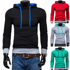 Men's Stylish Slim Fit Fashion Casual Pullover Hoodies Hooded Coat Jacket Sport