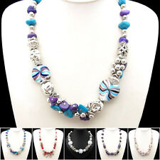 Special Offer, Crystal Ceramics Shell Gemstone Flower Necklace Bangle XB131