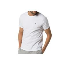 Tommy Hilfiger Mens Cotton Icon Short Sleeve T-Shirt - White